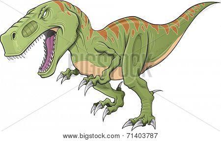 Tyrannosaurus Dinosaur Vector Illustration Art