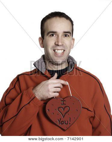 Man Holding Heart