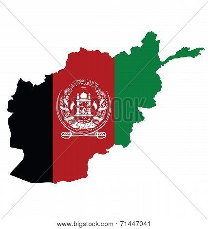 Afghanistan Map Flag