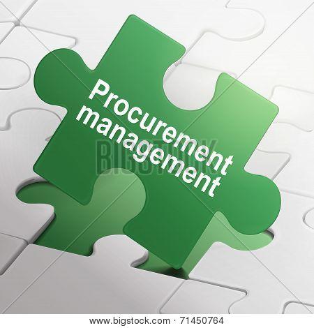Procurement Management On Green Puzzle Pieces