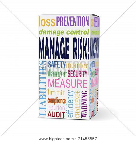 Manage Risk Words On Product Box
