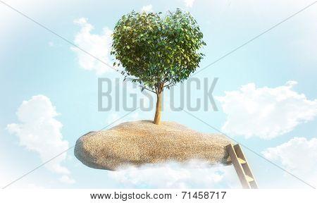 Tree shaped heart
