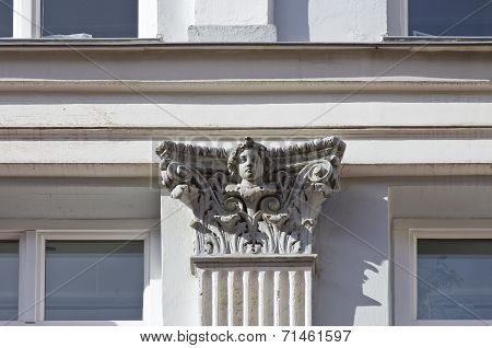 Classic Architecture Detail With Face