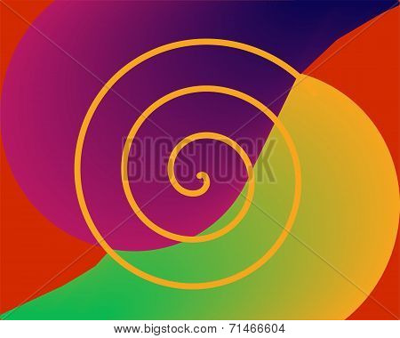 Abstract surreal background in vivid colors
