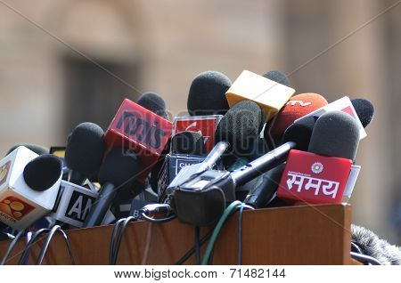 Indian media at Rastrapati Bhawan