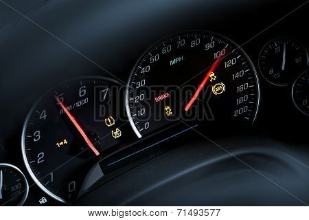 Super Car Tachometer Dash