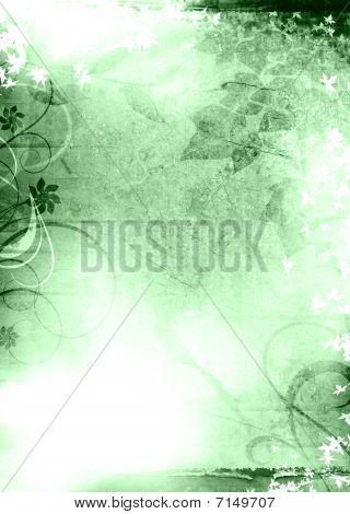 Grunge Background Green