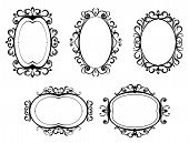 Antique vintage frames and borders isolated on white for design poster
