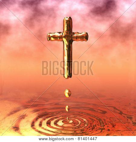 Golden Holy Cross