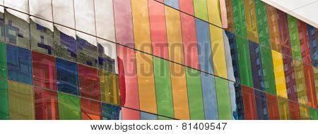 Reflections On Colored Stained Glass Building