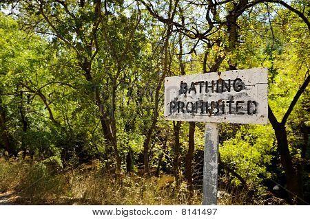 Bathing Prohibited