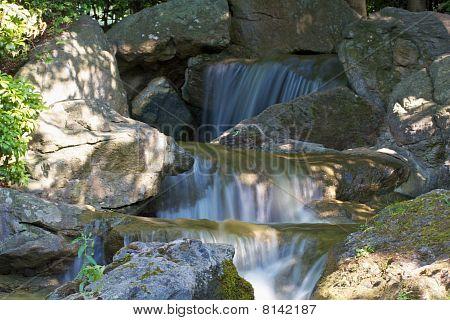 Waterfall floating water