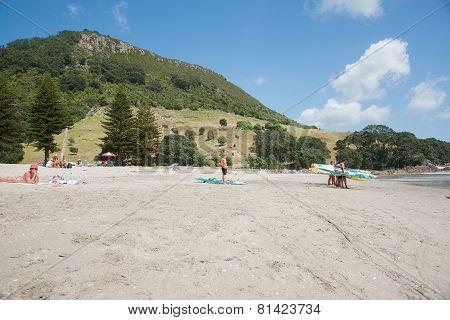 Mount Maunganui Beach Scenes.