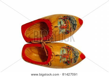 Pair of clogs isolated