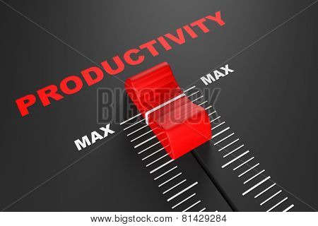Max Productivity Value Mixer Slider