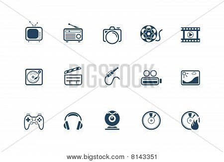 Media Icons - Piccolo Series