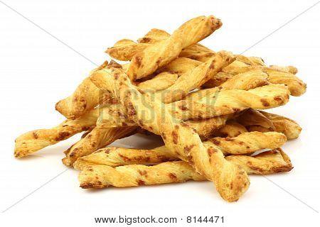 bunch of cheese pretzels