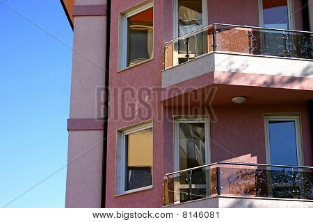 Urban Home Building With Windows