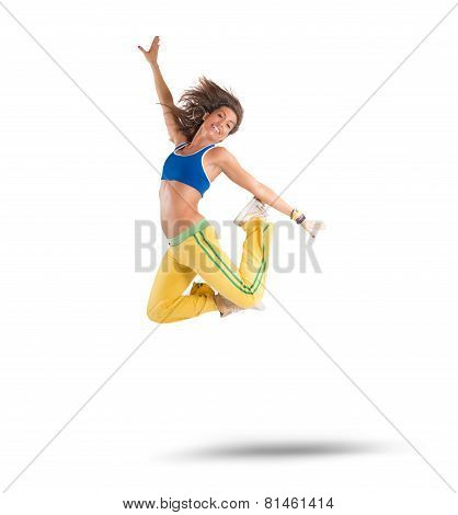 Dancer jumps
