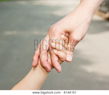 Hands Of Mothers And Daughters