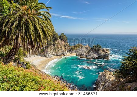 Beach and McWay Falls, Big Sur, California