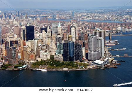 New York Skyline viewed from the Helicopter