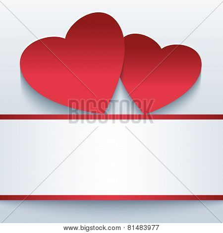 Love Beautiful Background With Red 3D Hearts