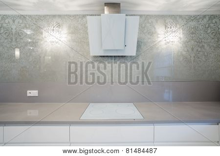 Induction Hob In Designer Kitchen