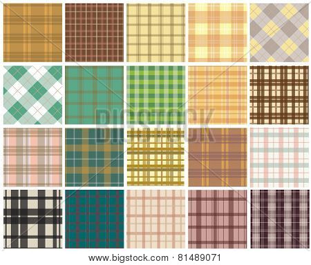 Plaid seamless patterns