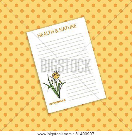 Health and Nature Collection. Citronella