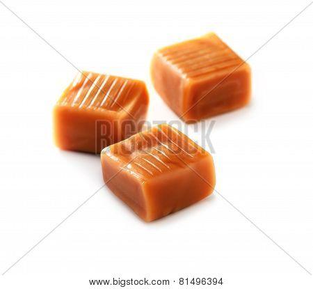 caramel candy  close-up
