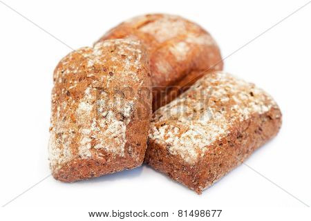 Baked biscuits  isolated on white background