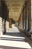 The colonnade of old Royal Naval College in Greenwich, London (UK) poster