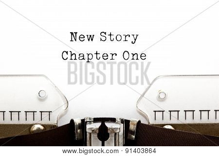 New Story Chapter One Typewriter