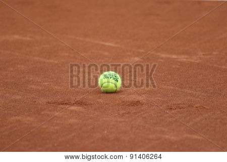 Babolat Roland Garros 2015 tennis ball at Le Stade Roland Garros in Paris