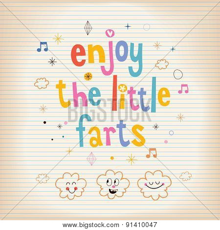 Enjoy The Little Farts card