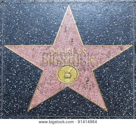 Douglas Fairbanks Star On Hollywood Walk Of Fame
