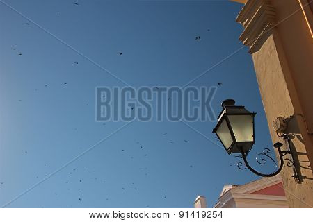 Lantern in an old town