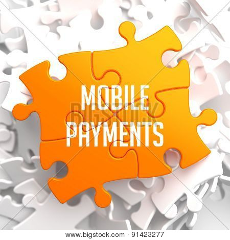 Mobile Payments on Yellow Puzzle.