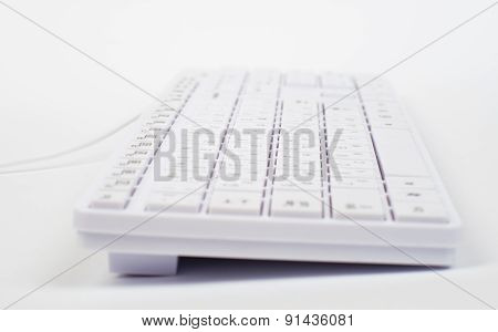 White keyboard with wire