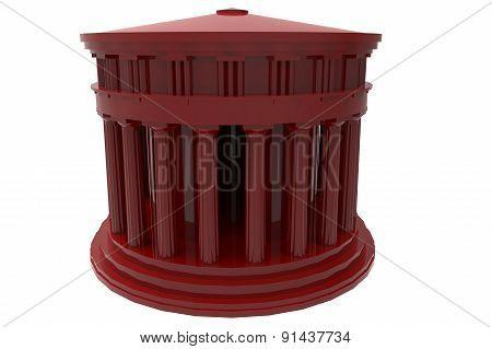 Ancient Greek Temple Render In Color