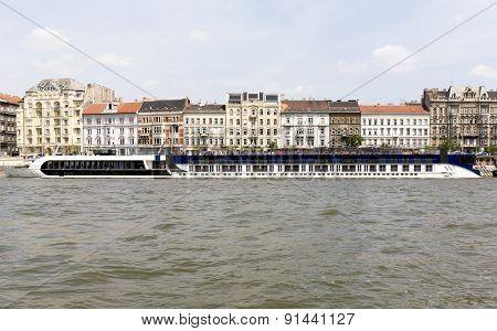 Ship Restaurant On The Danube