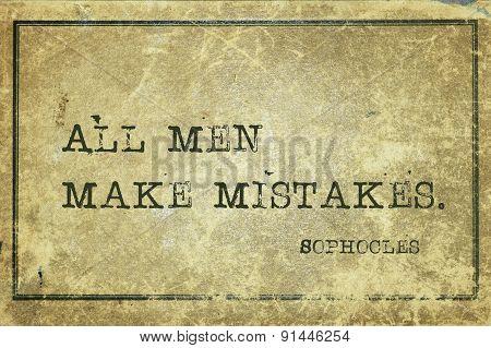 Mistakes Soph