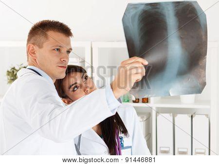 Radiologist Or Traumatologist Medical Concept