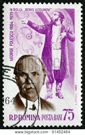 Postage Stamp Romania 1964 George Folescu, Operatic Bass