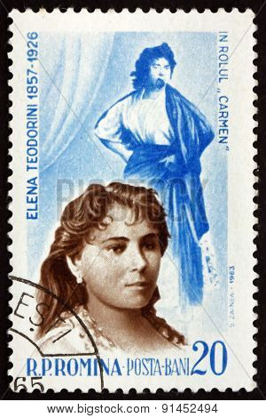 Postage Stamp Romania 1964 Elena Teodorini, Operatic Soprano