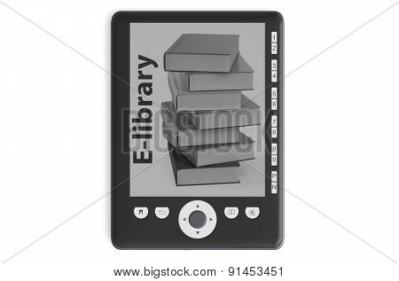 Black Modern E-book Reader
