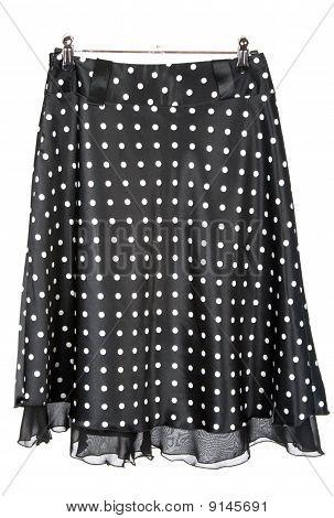 Black Satin Feminine Skirt