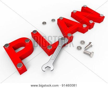 Make A Plan Shows Project Management And Enterprise