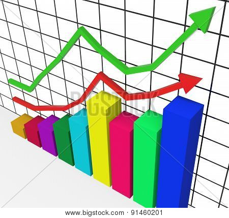 Graph Increasing Represents Marketing Profitable And Improve